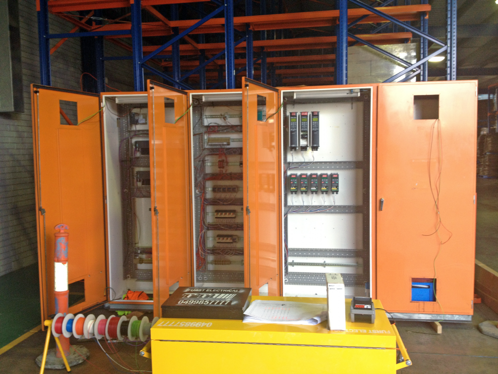 Depalletiser electrical controls